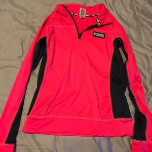 PINK long sleeve athletic pullover